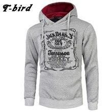T-Bird Brand Hoodies Men 2017 Male Long Sleeve Hoodie Letter Printing Sweatshirt Mens Moletom Masculino Hoodies Slim Tracksuit