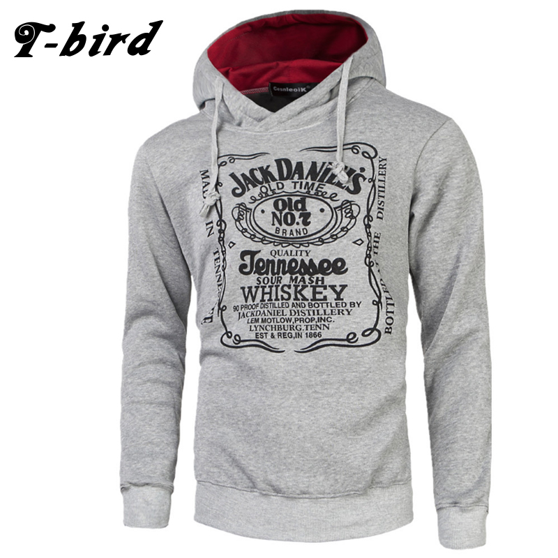 T Bird Brand Hoodies Men 2017 Male Long Sleeve Hoodie Letter Printing Sweatshirt Mens Moletom Masculino