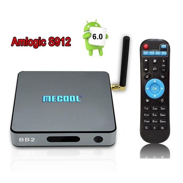 RAM 2 GB ROM 16 GB MECOOL S912 BB2 Android TV Box Amlogic 64 bits Octa Core 2.4G