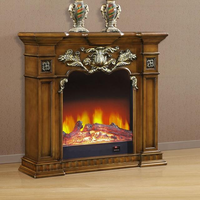 Foshan muebles de estilo europeo chimenea eléctrica decoración ...
