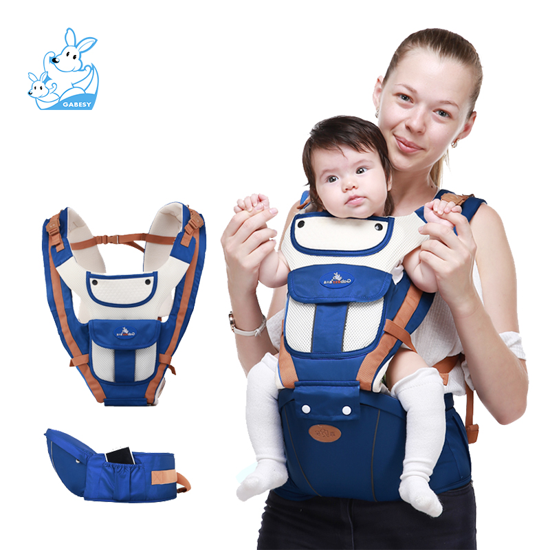 Gabesy New For 0-36m Infant Toddler Ergonomic Baby Carrier Sling Backpack Bag Gear With Hip Seat Wrap Newborn Waist Stool Belt