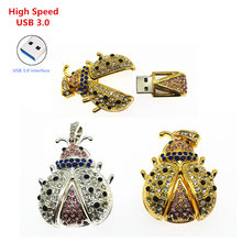 Kecepatan Tinggi USB 3.0 Crystal Beetle USB Flash Drive Pen Drive Memori Stick Pendrives Usb Flashdisk 4 GB 8 GB 16 GB 32 GB Hadiah Mainan(China)