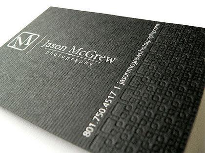 2016 Nouveau Design Typographie Impression Carte De Visite Argent Dorure 600gsm Nom La 90