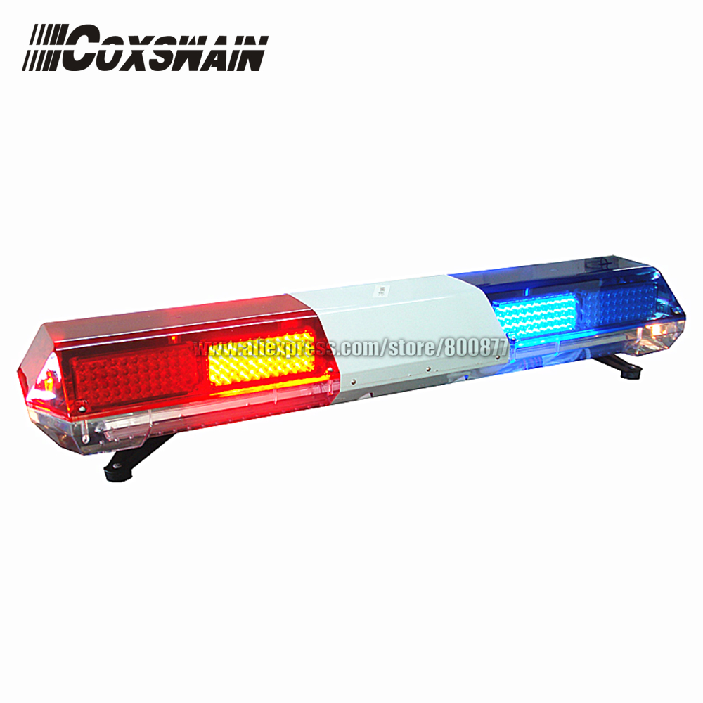 (TBD-03525C) Coxswain Car LED emergency warning light bar suit for police, ambulance, fire Alarm lamp( with 100W siren speaker) 120cm 64w led police lightbar ambulance lights firemen light bar 100w loudspeaker 100w police warning siren waterproof