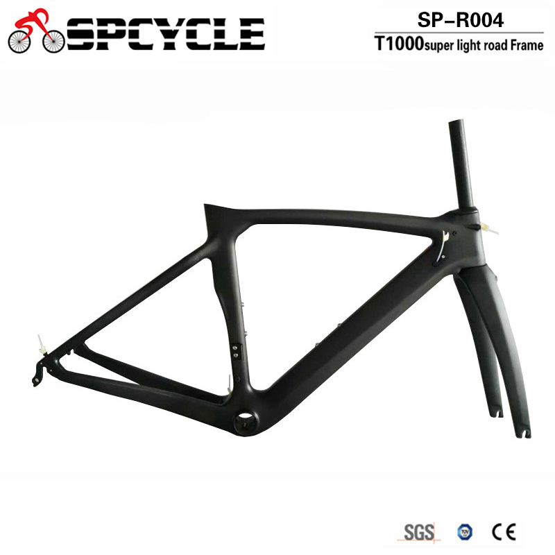 Spcycle 2018 New XR4 Bicycle Frame T1000 Carbon Road Bike Frame Ultralight Carbon Racing Bicycle Frameset With Fork Seatpost fixed gear bicycle frame bike accessories steel frame 53 48cm road bike frameset match fork