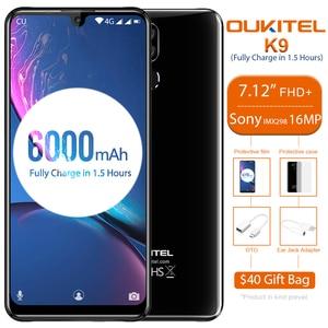 "Image 5 - OUKITEL K9 Waterdrop 7.12 ""FHD + affichage 16MP téléphone portable 4 GB 64 GB identification de visage Smartphone 6000 mAh 5 V/6A Charge rapide OTG double SIM"