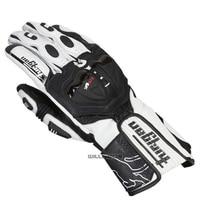 Motocross Racing Dirt Off Road Downhill Bike White Black Glove Men's Leather Gloves