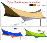 Flytop алюминиевый сплав полюс 5 6 8 человек 550 см * 560 см УФ пляж палатка солнце приют Рыбалка Пергола Открытый Палатка тент брезент
