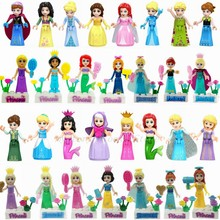 Legoing Princess Doll Snow White Cinderella Anna Elsa Legoings Friends Figures Building Blocks For Girl Toys Christmas Gifts(China)