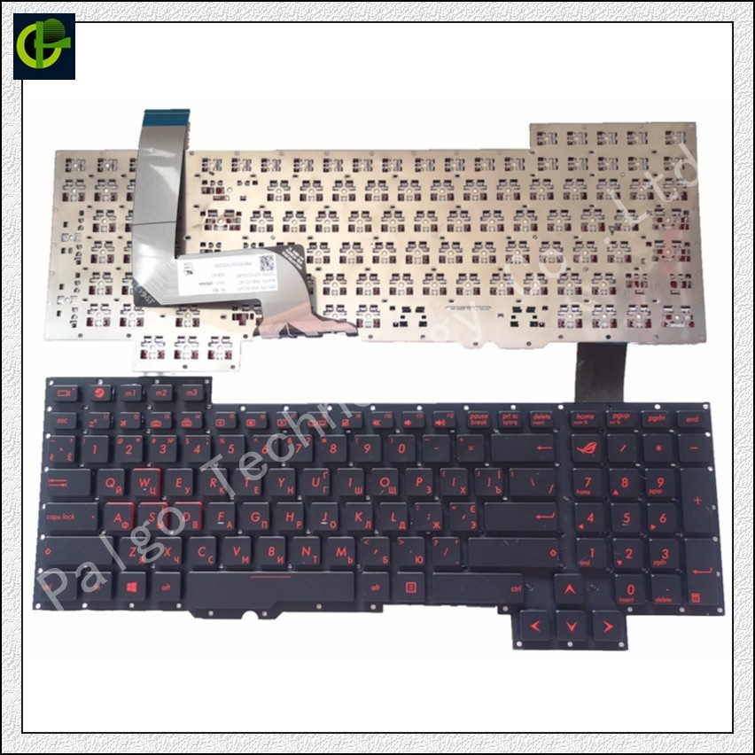 New Original Russian Keyboard  for Asus G751 G751JM G751JT G751JY 0KNB0 E601RU00 ASM14C33SUJ442 and Ukraine RU same as photo RU-in Replacement Keyboards from Computer & Office on