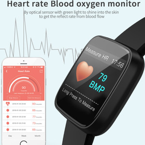 Image 4 - Relógio inteligente pulseira de medição pressão arterial à prova dwaterproof água banda de fitness freqüência cardíaca rastreador moda esporte