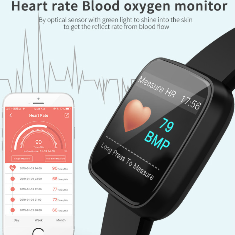 Image 4 - smart watch smart bracelet blood pressure measurement waterproof fitness band  Heart Rate Tracker  fashion sport wristband-in Smart Wristbands from Consumer Electronics