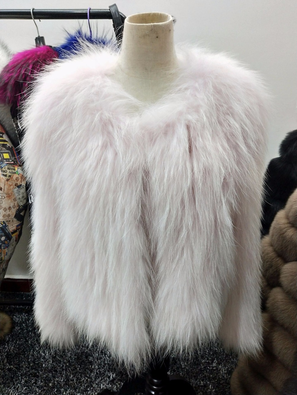 Marque De Nouvelle Femmes Renard Fox Tressé Pink Fourrure Mode Nouvelles Veste D'hiver Manteau Chaud YZqxqBwdTg