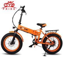 Electric bike 48V12.5A Electric 20″4.0 Fat Tire ebike Aluminum Folding 350W Powerful electric Bicycle Mountain/Snow/beach e bike