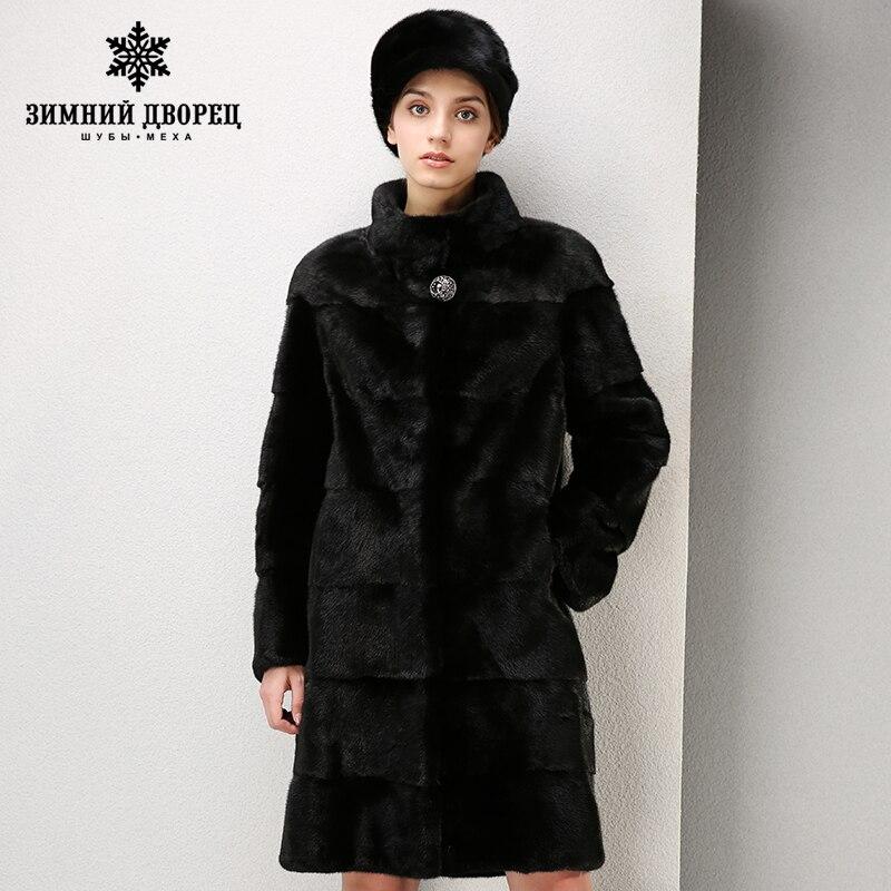 De haute qualité robe de mode de fourrure de vison manteau Court imported manteaux Véritable manteaux de fourrure En Cuir pour femmes Mandarin Colla de fourrure manteau