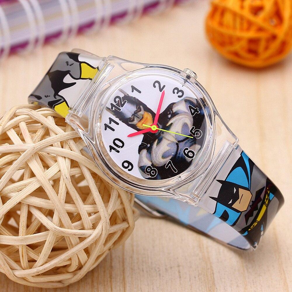 2019 Quartz Wristwatch Relogio Children Cartoon Batmen Watches Waterproof Cool Cute Watch For Student Boy Kids Child Clock Gifts