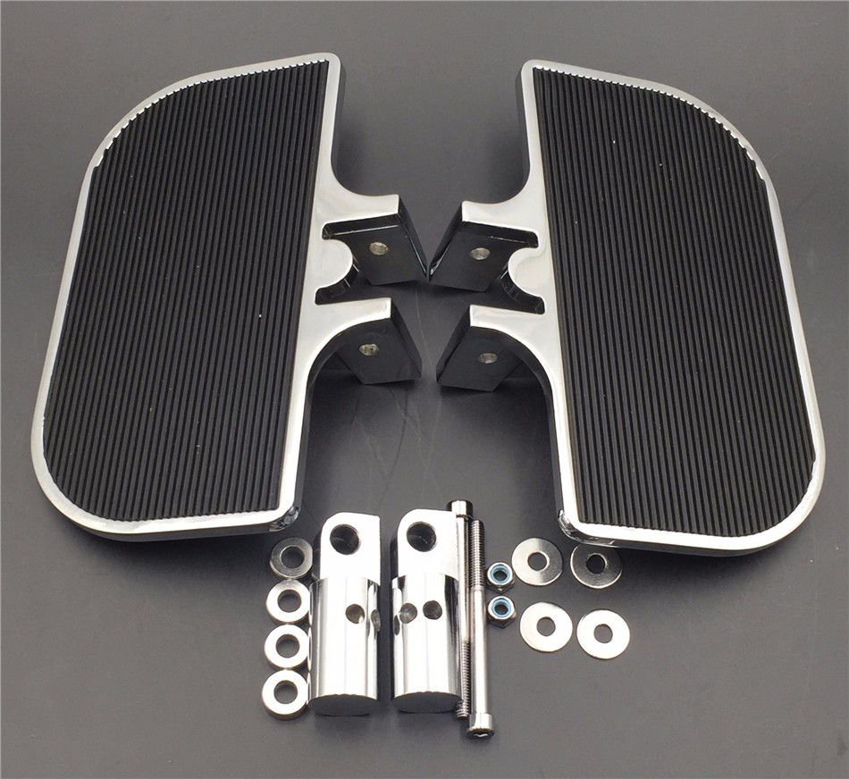 Aftermarket Chrome Passenger Mini Floorboards Rear Footboards FootPegsFit Harley-Davidson Electra Glide Heritage Softail Fat Boy chrome custom motorcycle skeleton mirrors for harley davidson softail heritage classic