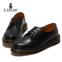 Classic Genuine Cow Leather Oxfords Shoes Women Casual Flats Footwear Black/Claret