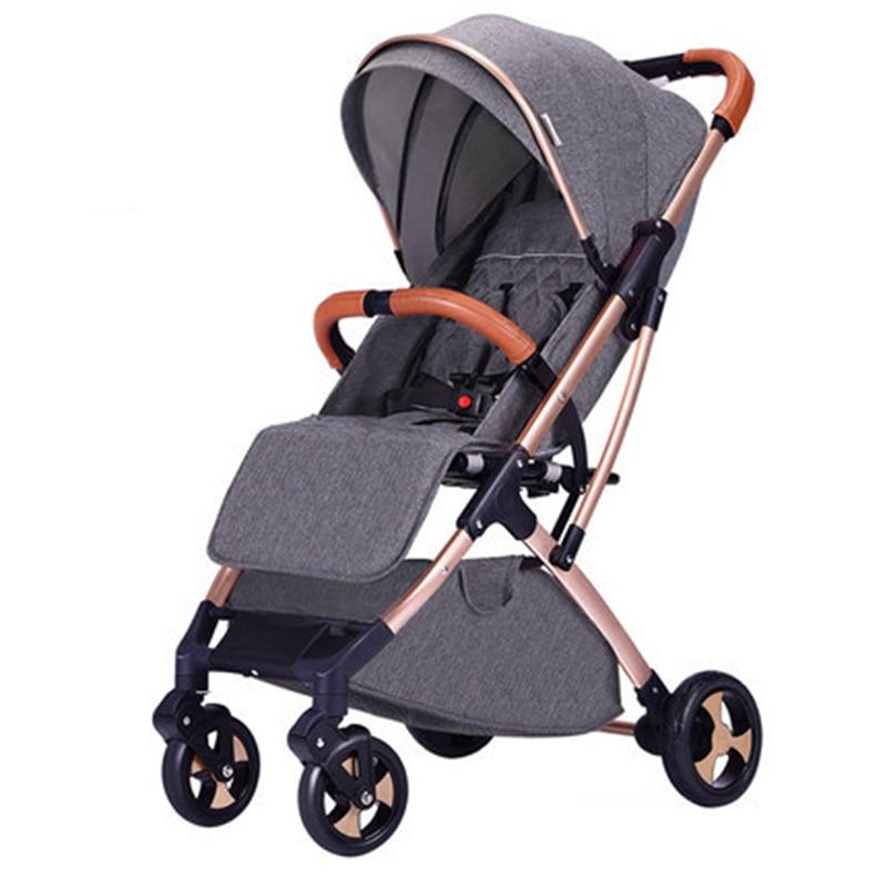 Bébé poussette lumière peut s'asseoir inclinable pliable et portable poussette parapluie quatre roues enfants poussette