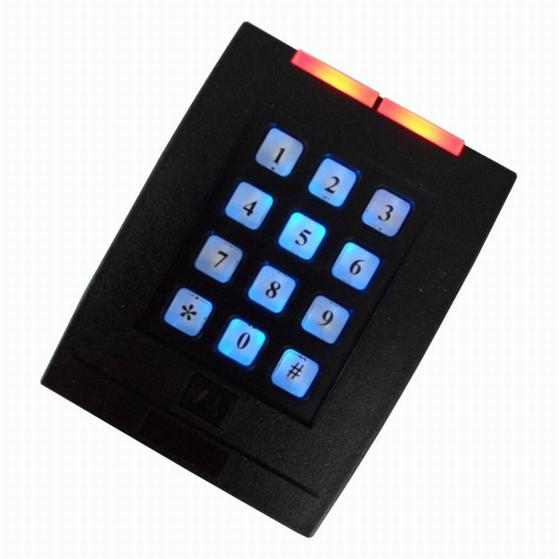 Keyboard WG26 / 34 125KHZ RFID/ EM Card Reader Door Lock Access Control System with Password Keypad Support 2000 Card Users outdoor mf 13 56mhz weigand 26 door access control rfid card reader with two led lights