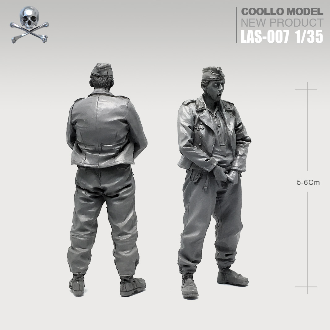 1/35 Resin Kits Armored  Resin Soldier Self-assembled Las-07