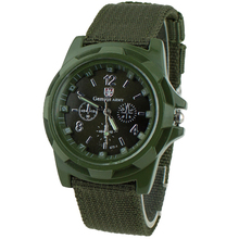 2015 New Canvas Belt Solider Style watches for Men Fabric Strap Luminous Army Wrist Watches  5EOC