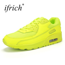 2019 Couples Sports Sneakers Air Cushion Women Men Jogging Shoes Comfortable Trainers for Running Lace Up Cheap
