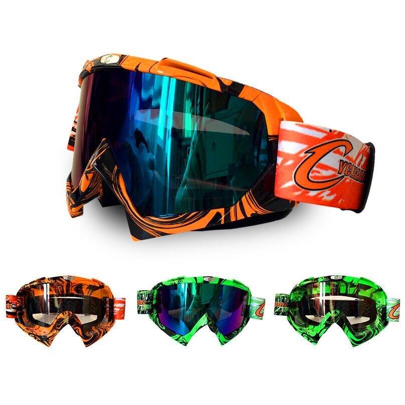 Prix pour Hommes Femmes Motoneige Lunettes Ski Snowboard Lunettes Ski Lunettes Moto Motocross Racing Casque Masque-Orange Vert (CG08)