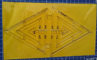 DIY Tools Sewing Parts Ruler Patchwork Rules Quilting Rules Double Triangular Rule