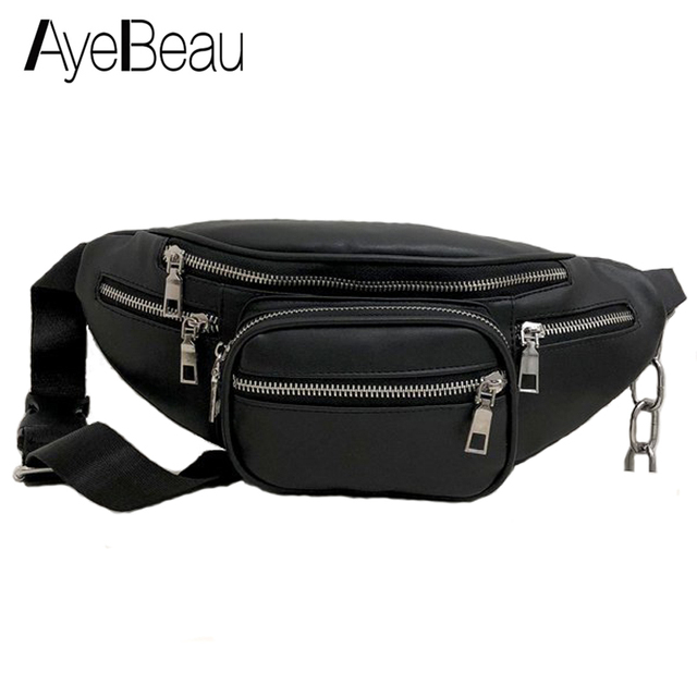 Lady Handbag Hip Bum Waist Bag Belt For Women Fanny Pack Sac Banana Pouch Bananka Female Money Phone Handy Bumbag Waistbag Belly