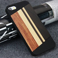 High Quality Splicing Wood Case For iPhone 5 for iPhone 5s for iPhone 5se Patented Wooden Cover with Hard PC