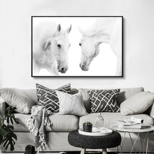 3PCS Modern Art White Horse Black Photography Photo Canvas Painting Print Poster Picture Wall Paintings Home Decor