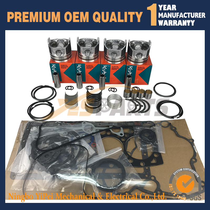 V1505 New Overhaul Rebuild kit for Kubota Engine Bobcat