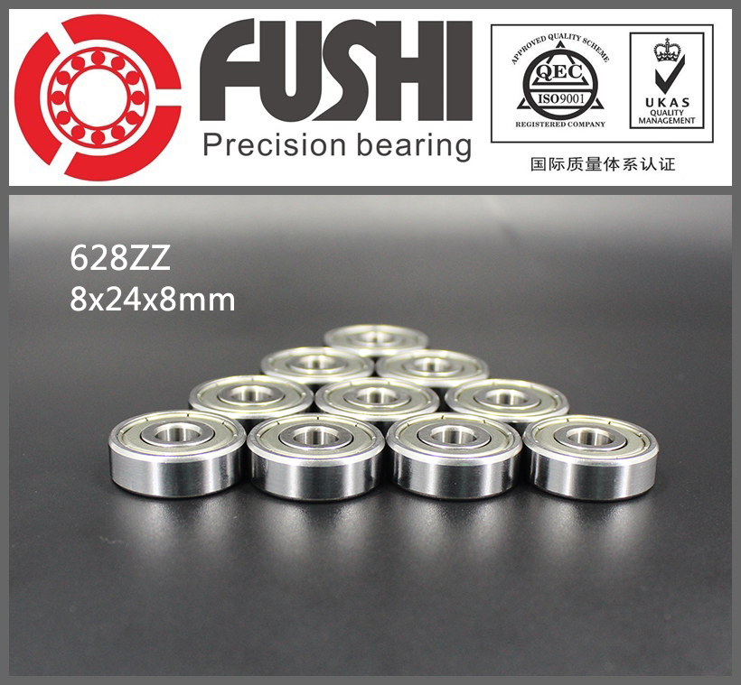 628ZZ Bearing ABEC-5 10PCS 8x24x8 mm Miniature 628Z Ball Bearings 628 ZZ EMQ Z3V3 Quality 6903zz bearing abec 1 10pcs 17x30x7 mm thin section 6903 zz ball bearings 6903z 61903 z