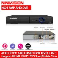 HD 5 IN 1 4MP AHD DVR NVR XVR CCTV 4Ch 1080P 3MP 4MP Hybrid Security