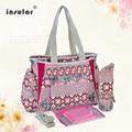 2016 Hot Newest Bohemian Stylish Mom Canvas Bag Multifunctional Mother Bag Large Fashion Mummy Outdoor Geometric Messenger Bag