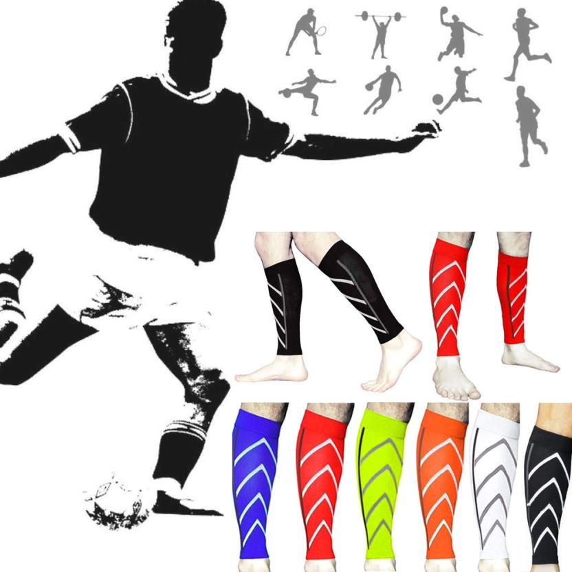 Fishsunday Pair Calf Support Graduated Compression Leg Sleeve Sports Socks Outdoor Exercise 0709