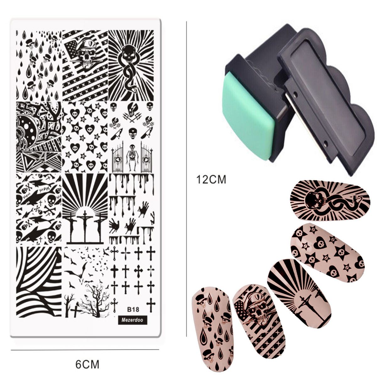 DIY Nail Art Стендар Lovers Lace Stamping Paint Stamp Үлгі - Маникюр - фото 1