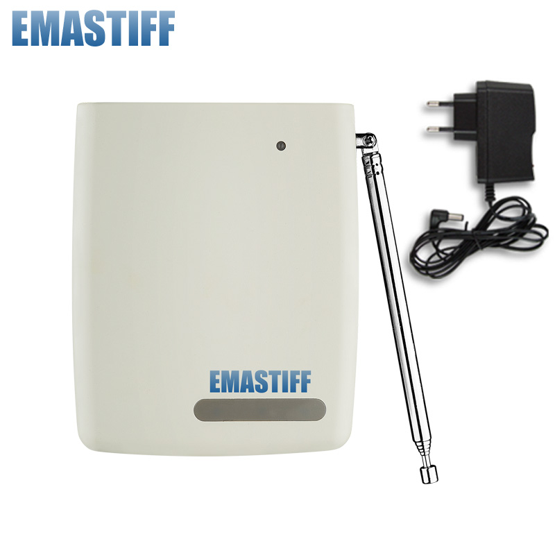 цены free shipping Wireless Signal Repeater Transmitter Enhance Sensors Signal 433MHz Just For Our GSM PSTN Alarm System