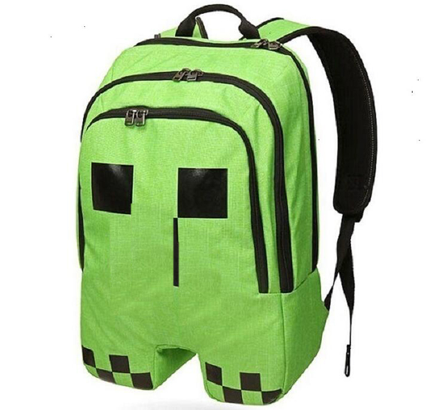 Us 1498 Aliexpresscom Buy Green Minecraft School Bag Oxford Backpacks Student Rucksack Anime Figure Toys For Children Christmas New Years Gift