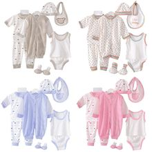 100% Cotton Newborn Baby Clothing Set Brand Baby Boy/Girl Clothes Polka Dot Underwear 8pcs/set for 0-3M baby цена в Москве и Питере
