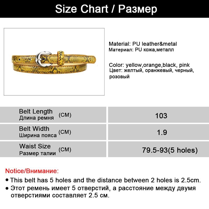 Luxury Snakeskin Pattern Belts for Women Belt High Quality Party