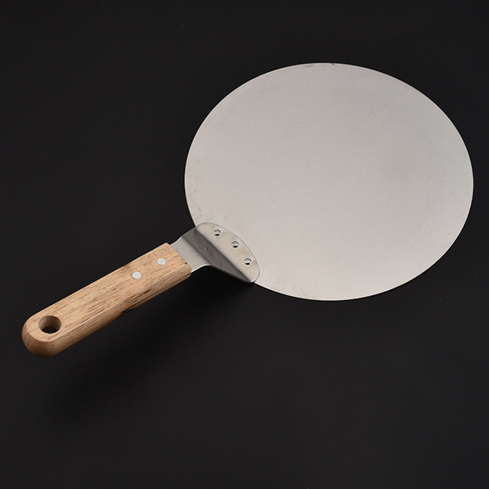 Stainless Steel Pizza Peel Shovel with Wooden Handle Cake Shovel Baking Tools Cheese Pizza Shovels Hot Sale