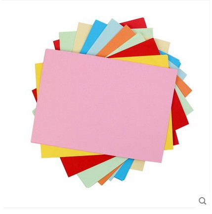100 sheets Colored A4 copy paper 80g multicolour uncoated paper 12 colorss  handmade paper origami printing paper