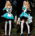 Alice in wonderland women summer dress Maid cosplay lolita Dress Retro medieval daily dress medieval gothic dress for girl