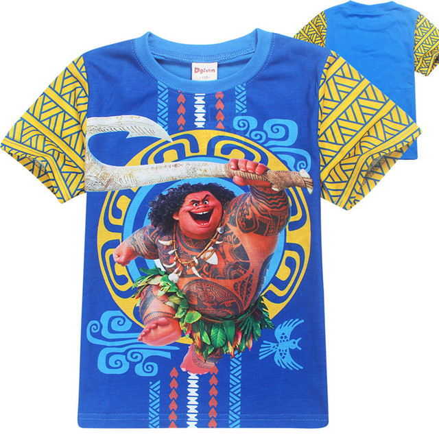 dacccb7b Boys clothes Maui kids t-shirts roupas moana clothes short sleeves t-shirt  cartoon enfant summer boys t shirt infantis menino