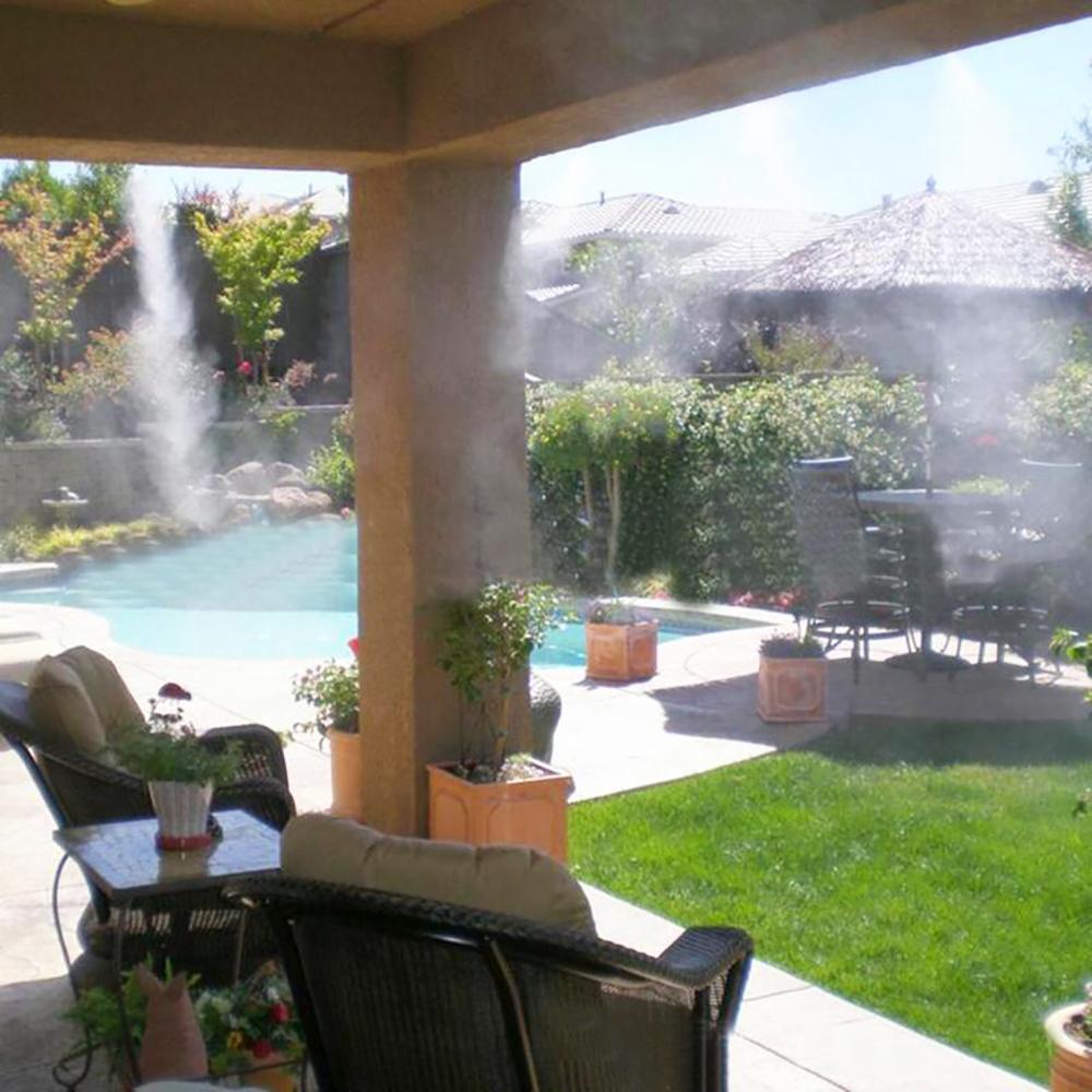 HTB1t joTjDpK1RjSZFrq6y78VXaW - Water Misting Cooling System Kit summer Sprinkler brass Nozzle Outdoor Garden