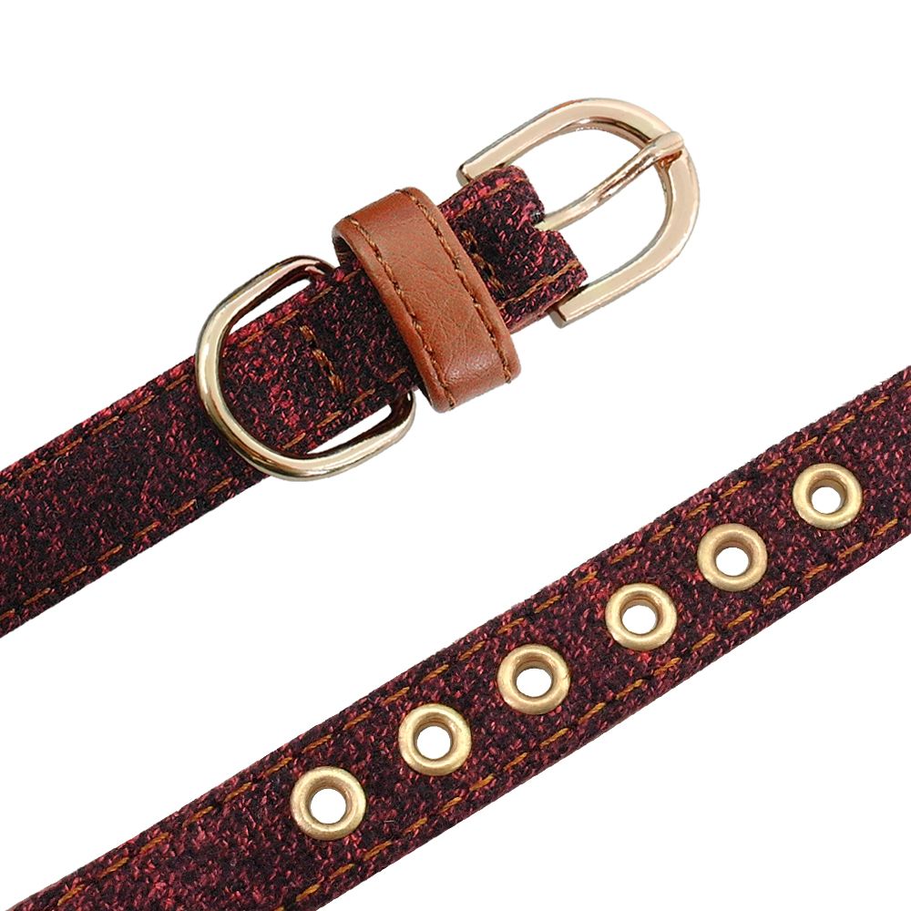collier chien cuir noeud papillon rouge