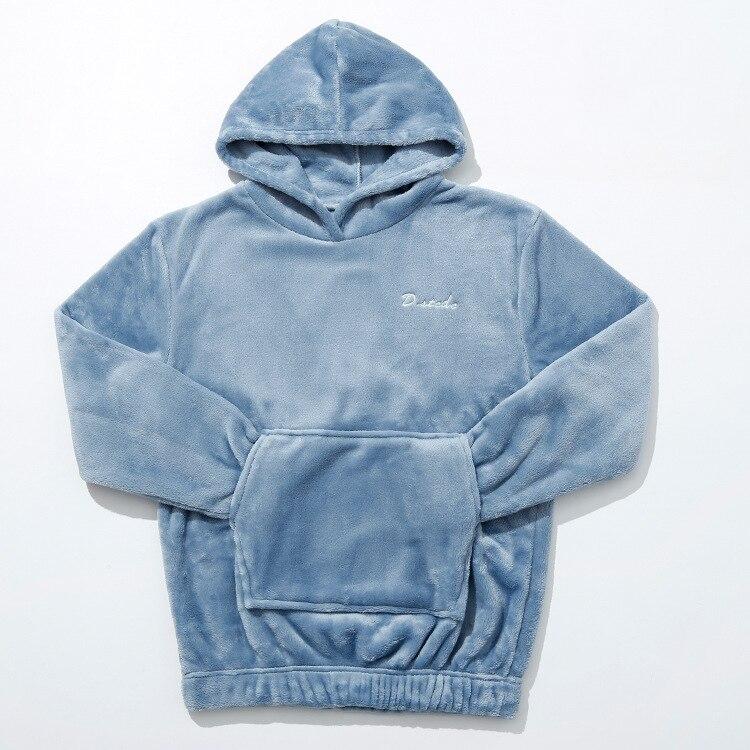Hot Sale Women Hooded Sleep Clothing Winter Thick Warm Sleepwear Pajamas Shirt Sweet Soft Wladies Home Wear Top Clothes Lounge