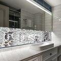 Espelho 3d acrílico adesivos de parede criativo efeito espelho adesivo para decoração de casa decalque da parede do vinil quarto decorações